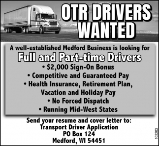 OTR Drivers Wanted