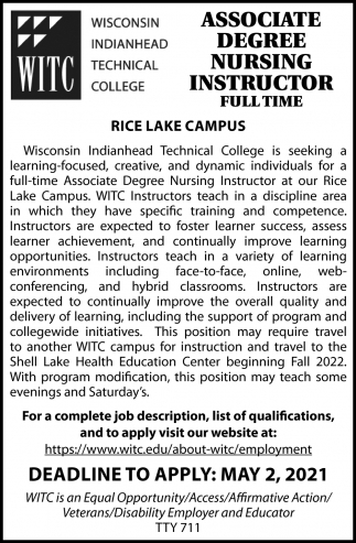 Associatre Degree Nursing Instructor
