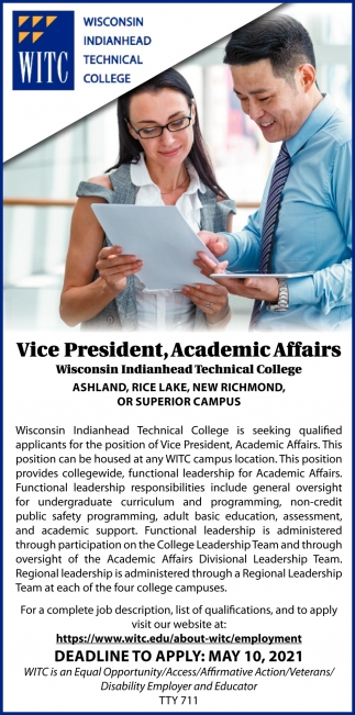 Vice President, Academic Affairs