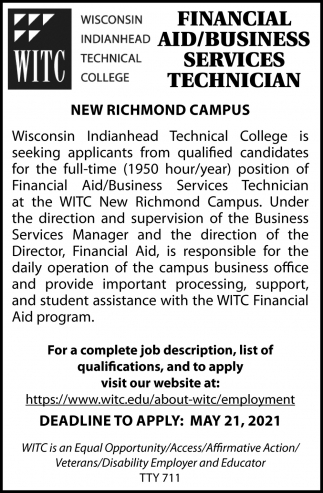 Financial Aid / Business Services Technician
