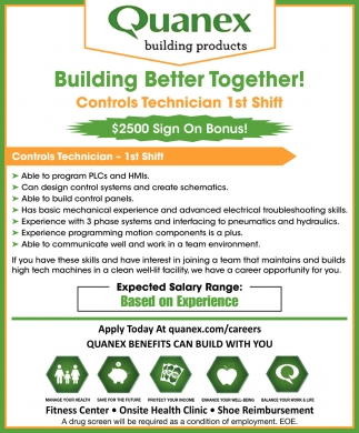 Controls Technician 1st Shift