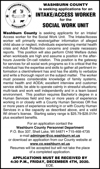 Intake / Access Worker
