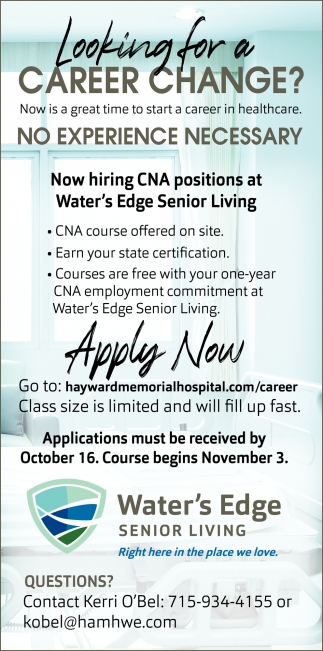 Now Hiring CNA Positions