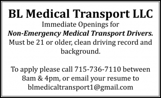 Non-Emergency Medical Transport Drivers