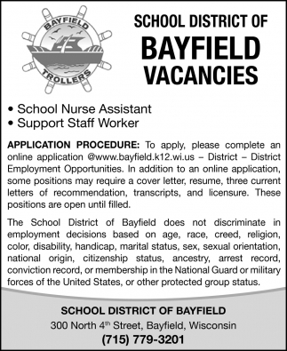 School Nurse Assistant & Support Staff Worker