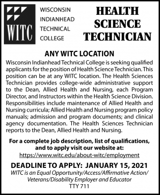 Health Science Technician