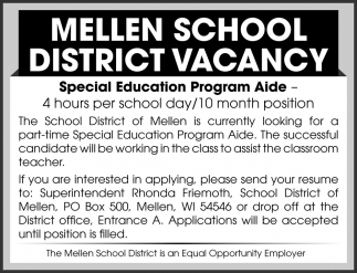 Special Education Program Aide