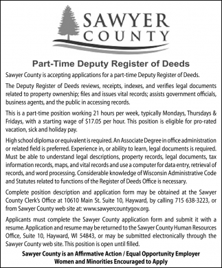 Deputy Register of Deeds