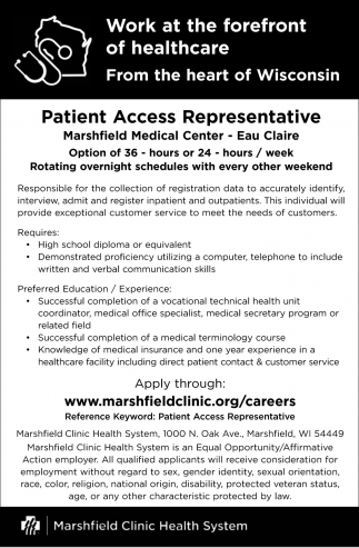 Patient Access Representative