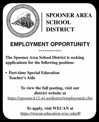 Part-time Special Education Teacher's Aide
