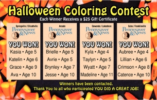 Halloween Coloring Contest