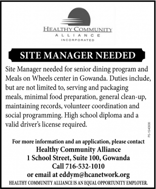 Site Manager Needed