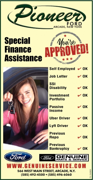 Special Finance Assistance