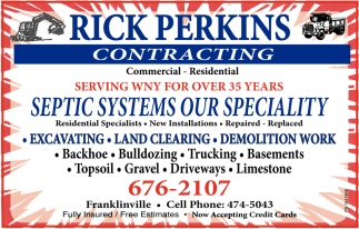 Septic Systems Our Specialty