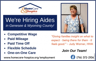 Now Hiring Aides