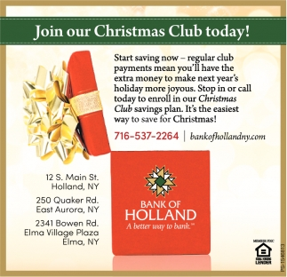 Join Our Christmas Club Today!