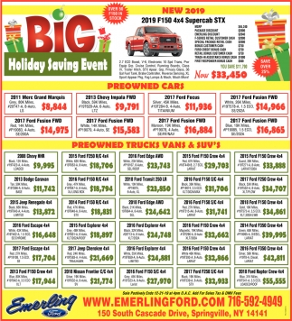 Big Holiday Saving Event