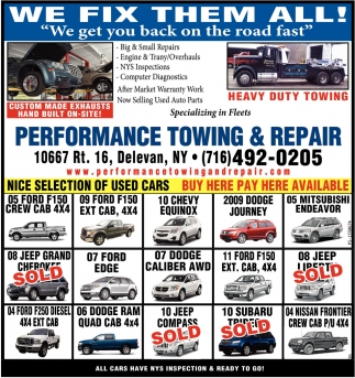 We Fix Them All!