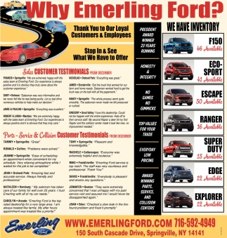 Why Emerling Ford?