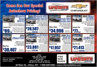Come See Our Special Autoshow Pricing!