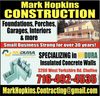 Foundations, Porches, Garages, Interiors & More