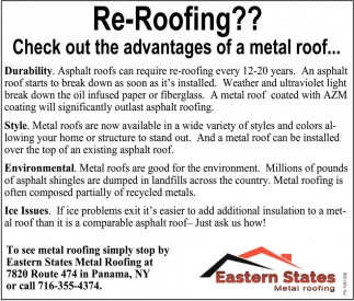 Re-Roofing?