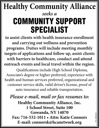 Community Support Specialist