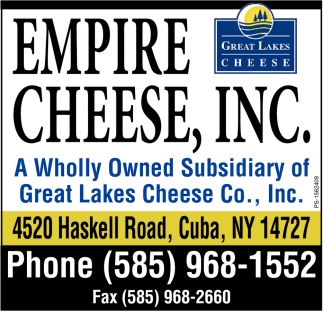 A Wholly Owned Subsidiary Of Great Lakes Cheese Co., Inc.