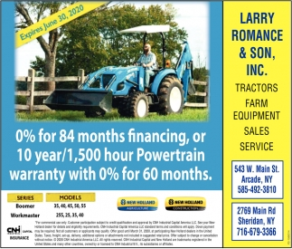 Tractors - Farm Equipment - Sales & Service