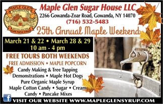 25th Annual Maple Weekend