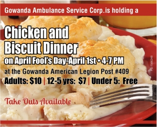 Chicken And Biscuit Dinner