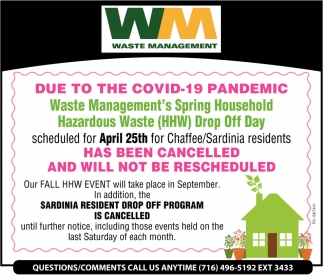 Due To The COVID-19 Pandemic