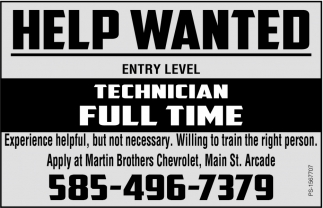 Technician Full Time