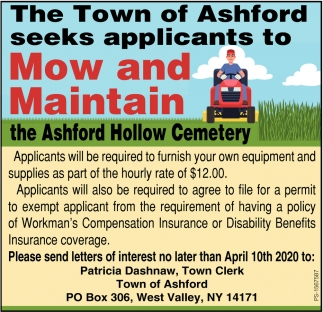 Mow And Maintain the Ashford Hollow Cemetery