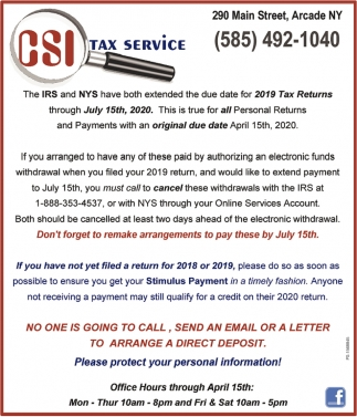 Please Protect Your Personal Information!
