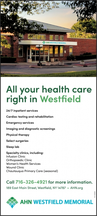 All Your Health Care Right In Westfield