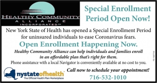 Special Enrollment Period Open Now!