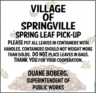 Spring Leaf Pick-Up