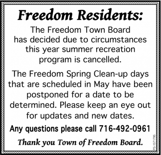 Freedom Residents