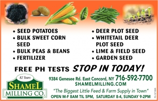 Free PH Test Stop In Today!