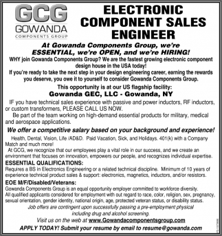 Electronic Component Sales Engineer