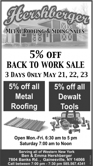 5% Off Back To Work Sale