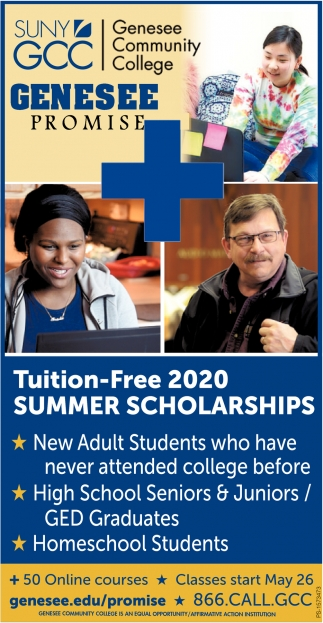 Tuition-Free 2020 Summer Scholarships