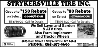 We Sell Lawn And Garden & ATV Tires.