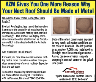 AZM Gives You One More Reason Why Your Next Roof Should Be Made Of Metal