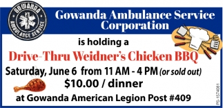 Drive-Thru Weidner's Chicken BBQ