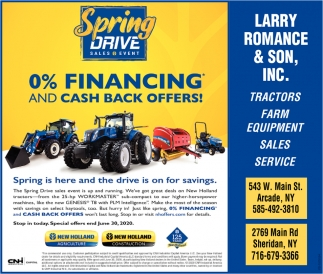 0% Financing And Cash Back Offers!