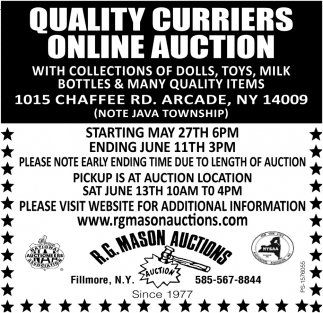 Quality Curriers Online Auction