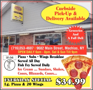 Curbside Pick-Up & Delivery Available