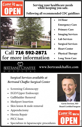 Surgical Services Available At Bertrand Chaffee Surgical Center